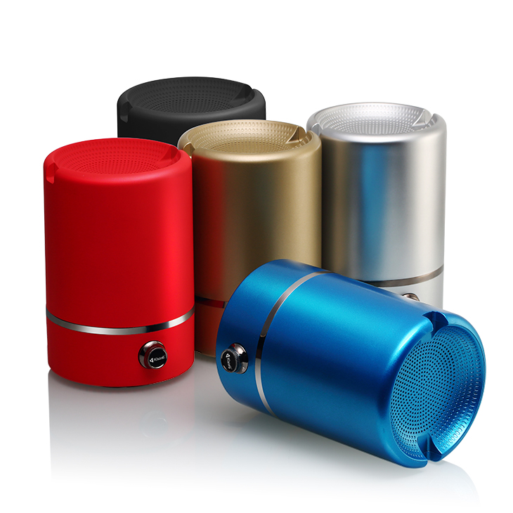 Handfree mini wireless speaker, Metal round portable speaker for iphone iPad
