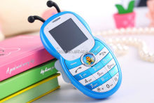 Children Phone with Disco Light mini mobile bar phone Cute BEE Style CCT-K1