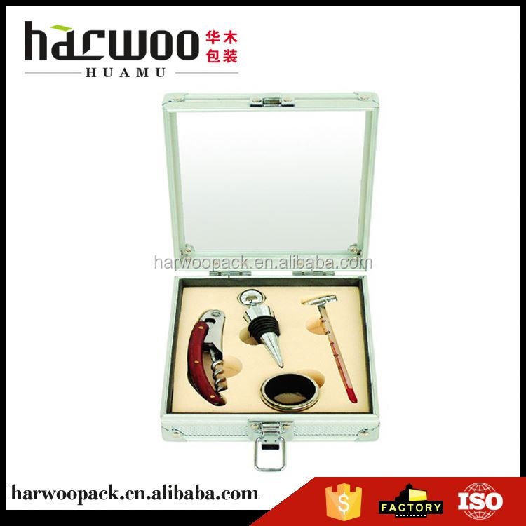 New coming excellent quality wine and wine set luxury leather packaging box from China