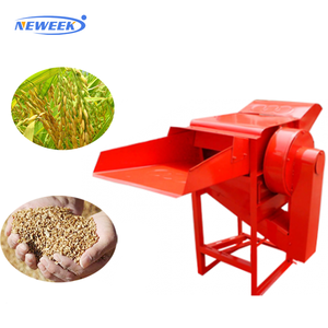 NEWEEK semi-automatic barley shelling soybeans hulling paddy threshing machine