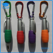 Best selling promotional customed color plastic pen with Carabiner