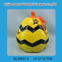 Promotional ceramic halloween pumpkins with led light
