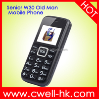 Unlocked cell phone Senior W30 single sim card senior mobile phone for old man