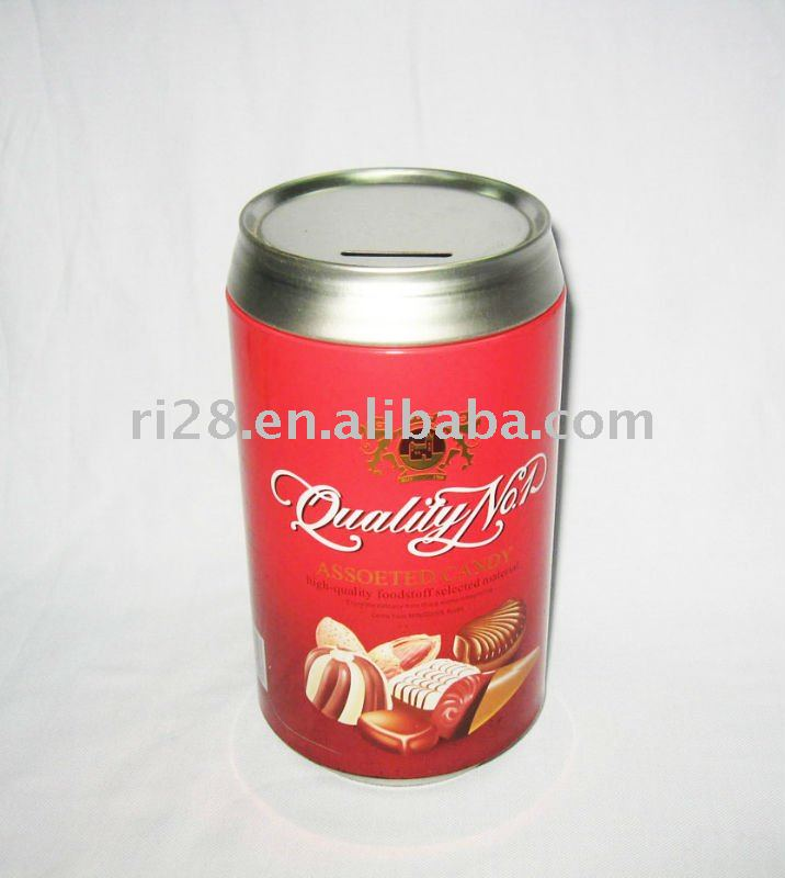 Beer shape candy tin