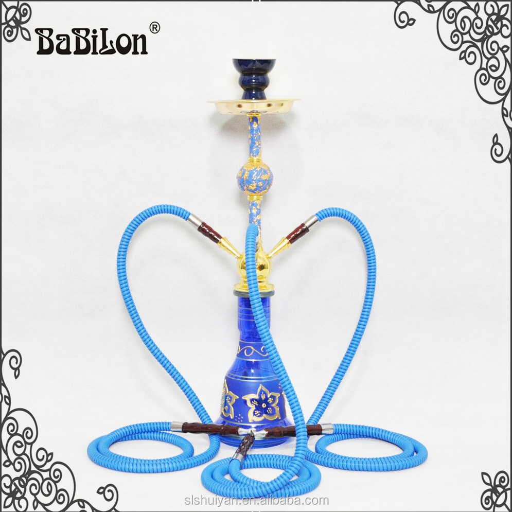 Best Quality Three Hose Blue Narghile Hookah