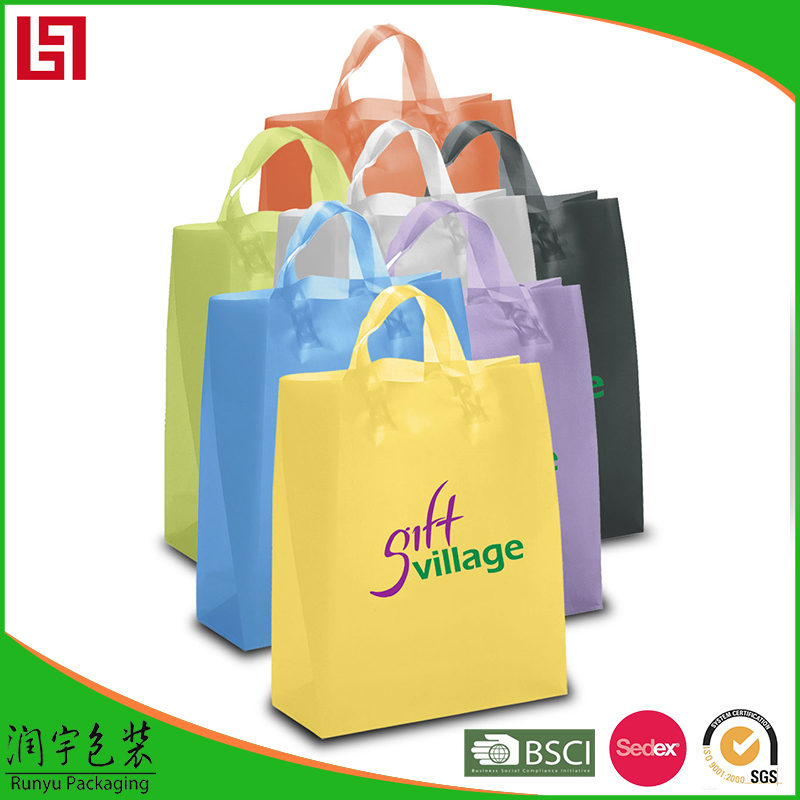 Factory price hot sale flat cotton handle paper shopping bag