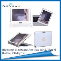 Unique Design 360 Degree Rotate Bluetooth Keyboard With Cover Case For iPad Air 2 Wireless Bluetooth Keyborad For iPad 6