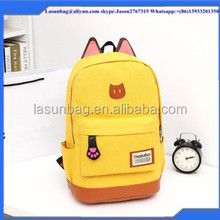 Factory Outlet 2016 Girls Cute Cartoon Style Cat Ear Backpacks fashion Kids Student school bag Backpack