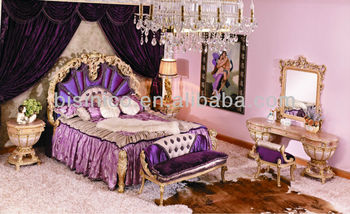 Bisini Luxury Bedroom Set, Antique Italian Style Bed Room Furniture, Royal Bedroom Set