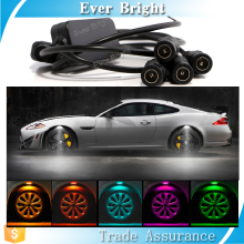 Hot car accessories light new arrival product fender flares auto lighting colored led decoration 4pcs/set car wheel light