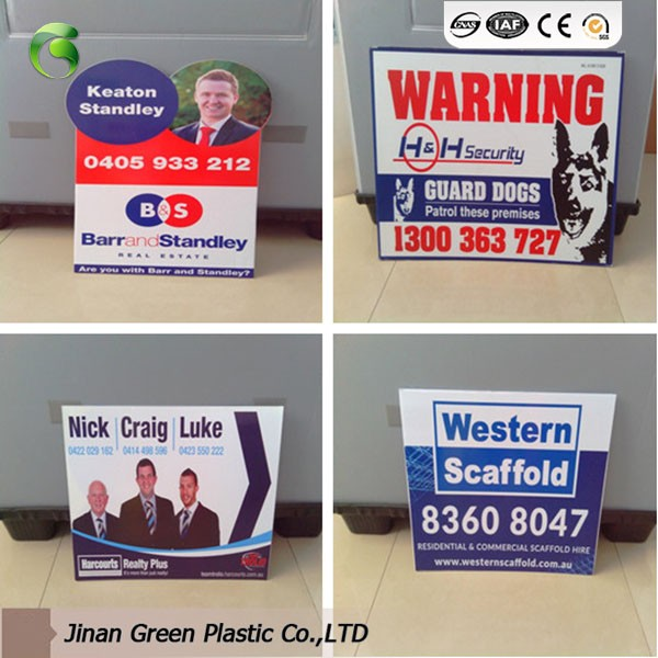 Green Corona Treatment PP Plastic Sheets For Advertisement Placard