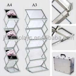 acrylic panel Collapsible Literature Stand 6 panel A4 acrylic brochure stand