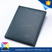 Best-selling quality notebook printing company simple black cheap pu leather notebook for business person