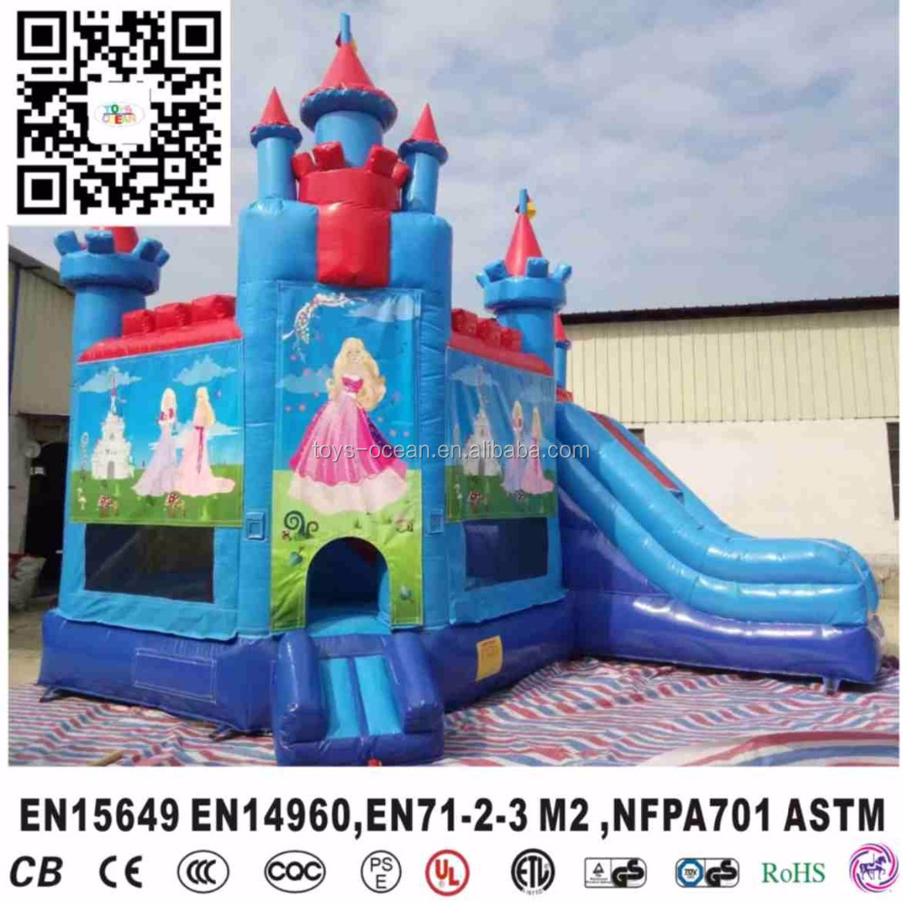 2016 new inflatable princess jumping combo 5 in 1 bouncer house