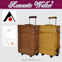 wholesale New style OEM welcomed Korea fashion PU pigskin trolley luggage bag