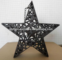 metal craft American five angle stars decorative wall hangings