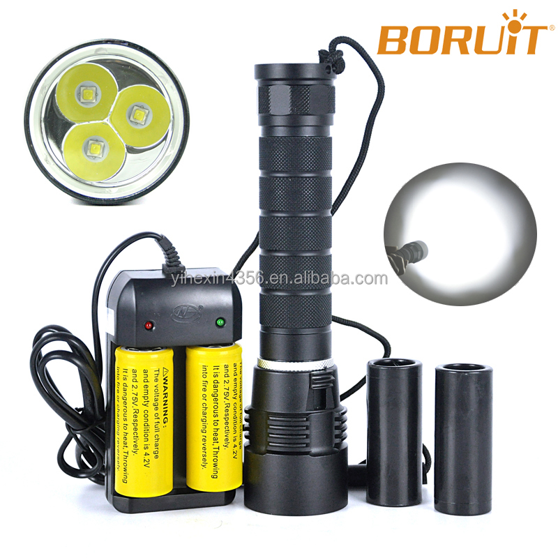 Rechargeable Magnetic Waterproof IP65 Powerful XML-L2 Scuba Torch Led Diving Underwater 100m