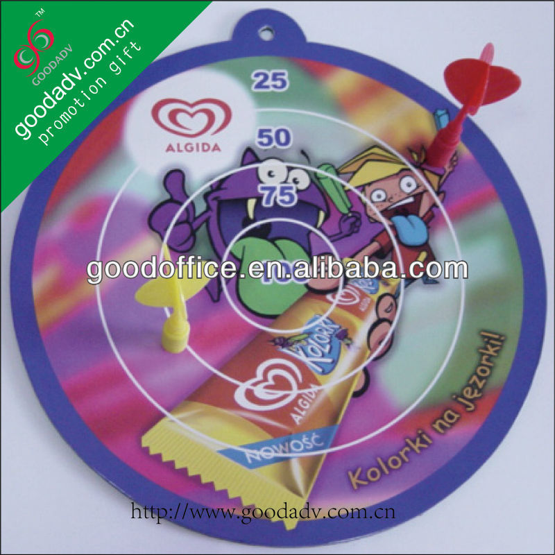 Personalized full printing magnetic dart boards for kids