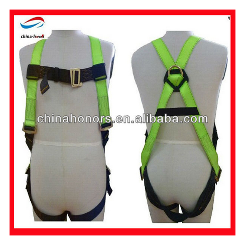 chinahonors good full body harness with lanyard/full body safety harness