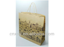 Eco-friendly and colorful printing kraft paper shopping bag