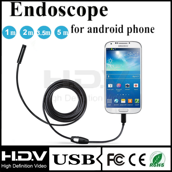2016 Newest 2 IN1 Android and PC 2.0MP HD 720P Endoscope Borescope Inspection Wire Camera android