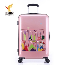 Polycarbonate Yiwu Cute Hardside Trolley Suitcase For Kid Luggage With Wheel Cartoon