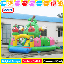 PVC tarmpoline Green Apple Funpark /inflatable funpark for sale