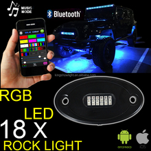 NEW Super Bright 18LED RGB Rock light pod for offroad ATV UTV Jeep Truck