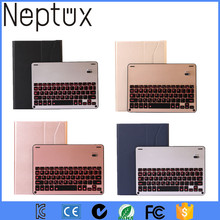 2017 New Keyboard Case Wireless Bluetooth Keyboard with Aluminum LED Backlit For ipad pro 10.5 / 9.7 / 12.9