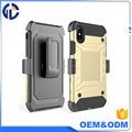 New 2017 Hybrid Armor Phone Case Heavy Duty Holster Combo Belt Clip Shockproof Cover For Iphone X