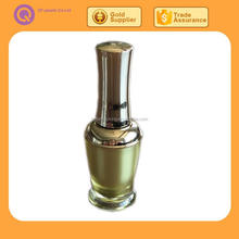 wholesale custom made beauty oem empty luxury small unique nail polish bottle with aluminum gold cap