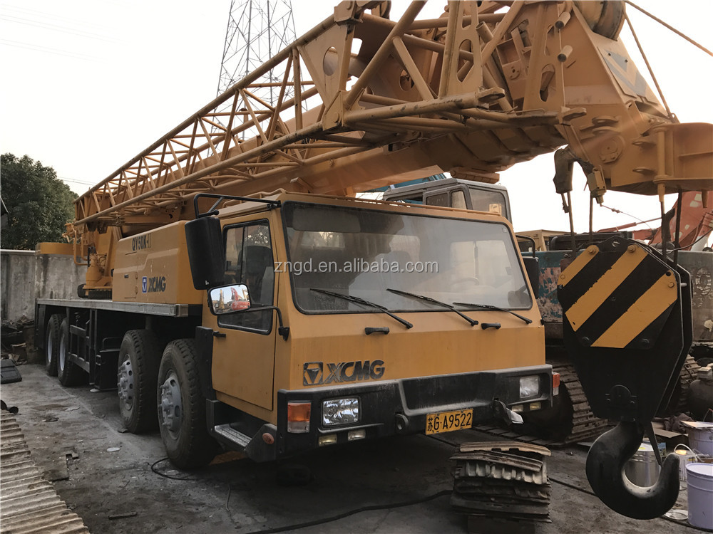 China made XCMG QY50K-2 50T truck crane used 50t mobile crane second hand XCMG QY50K-2 50 tons crane for sale