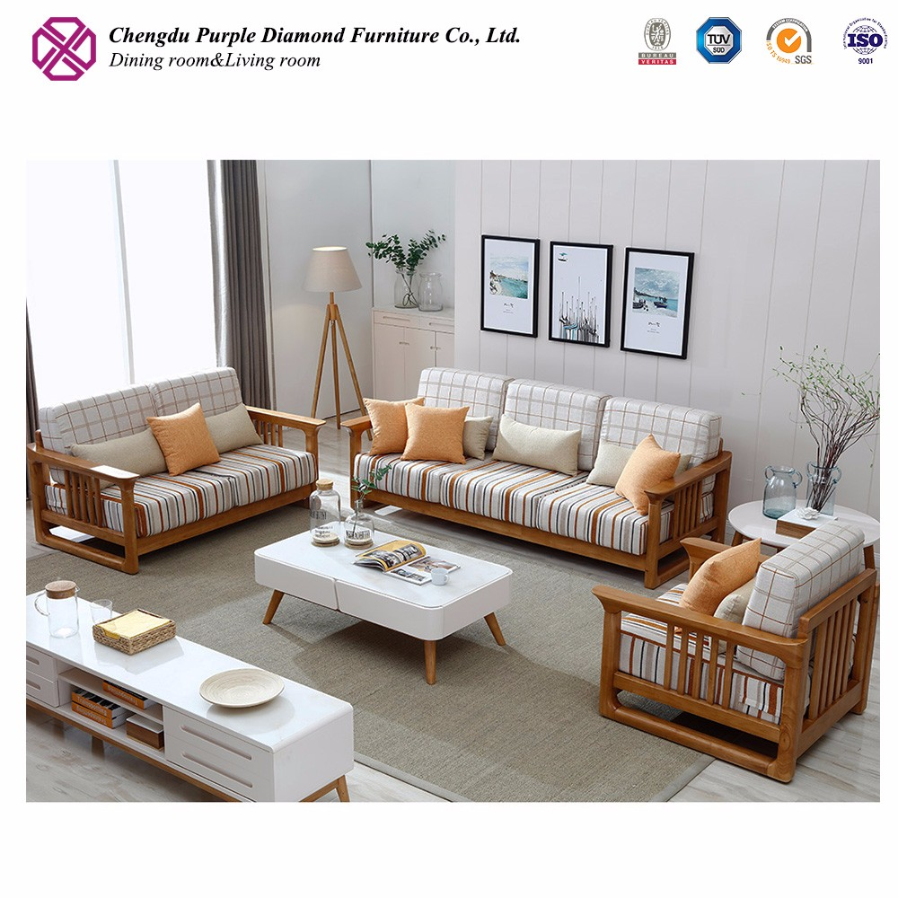 Corner I shaped fabric sofa bed wooden sofa set designs and prices