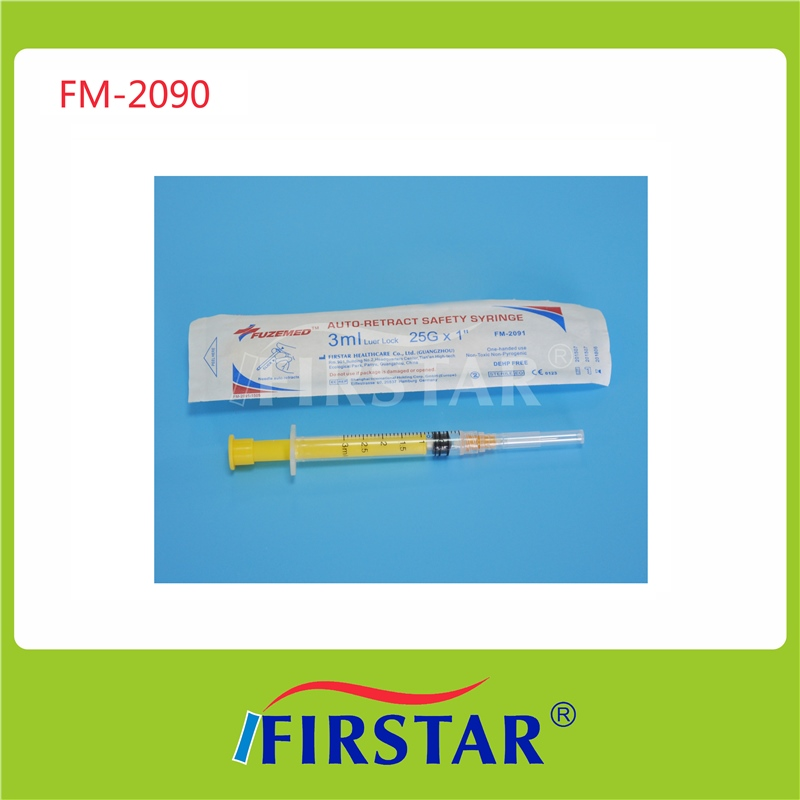 Medical treatment use prefillable syringe with luer-lock