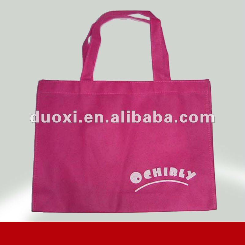 Red Recycled Jute Non Woven Shopping Bag