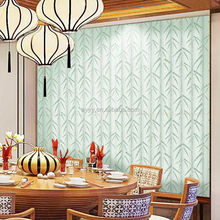 SA-1102 New design Classic decoration wall paper green bamboo for home bedroom kids room kitchen ECO-PVC wall paper