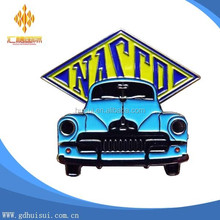 custom metal nasso car club soft enamel lapel pin badge