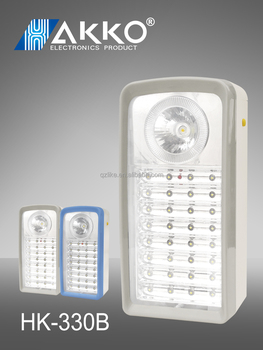Rechargeable wall-mounted led housing emergency lights