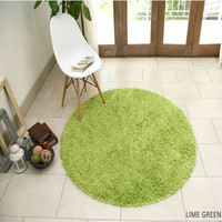 machine made polyester rug with rubber back for living room