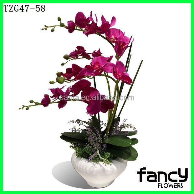 orchid e artificielle fleur artificielle en pot orchid es pour d coration de la maison fleurs. Black Bedroom Furniture Sets. Home Design Ideas