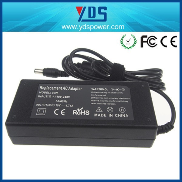 power supplier in shenzhen universal battery charger with 19V 4.74A 90W laptop charger notebook adapter ultrabook charger