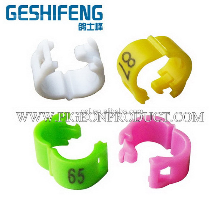 For sale plastic clip birds leg bands with number, open bird leg ring,birds leg rings handmade