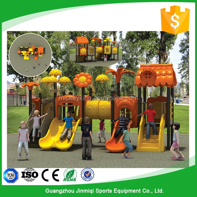 Amusement park LLDPE plastic sunflower outdoor playground equipment for sale