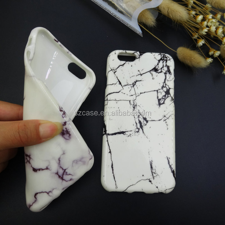 High Quality Marble Stone Soft IMD TPU Cell Phone Case for Iphone 7 Cover