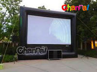 Large inflatable outdoor inflatable movie screen