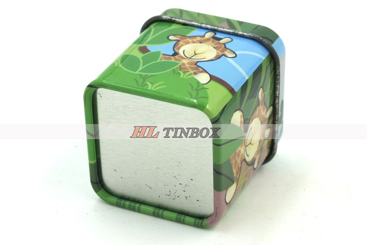 Cartoon Candy Small Square TIn Can for Packaging