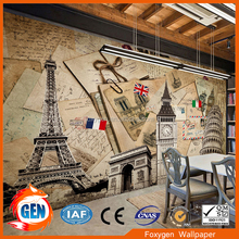 Interior brick wallpaper 3D designs