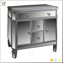 Bulk order production french curio cabinet decorative mirror cabinet