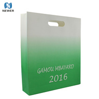 Custom promotional flat handle kraft paper bag of raw materials with logo print