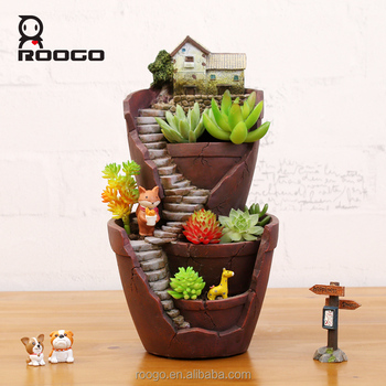 Hot sale creative cartoon plant pot wholesale resin hanging garden flower Pots decoration
